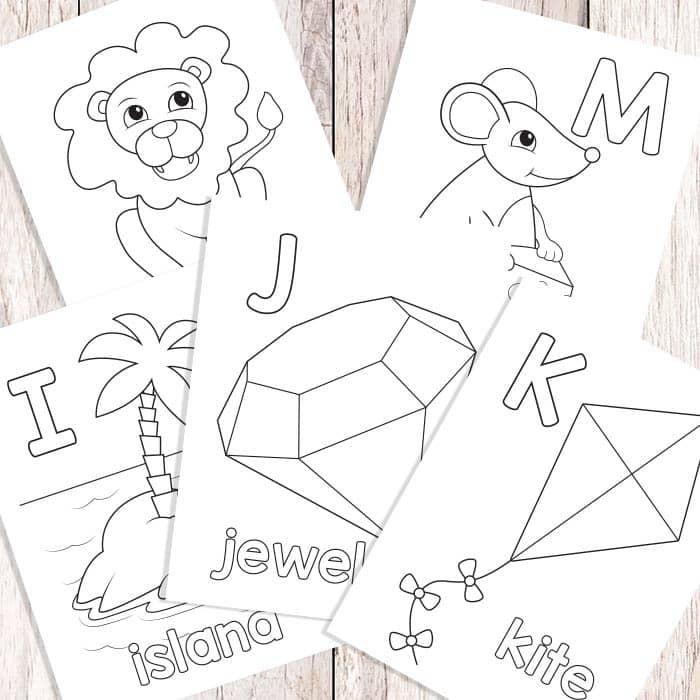 Letters I-J-K-L-M