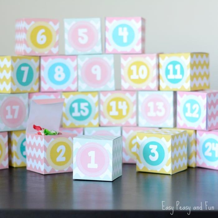 Printable Advent Calendar Boxes