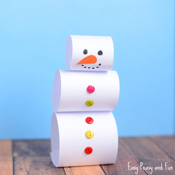 Simple Paper Snowman Craft for Kids