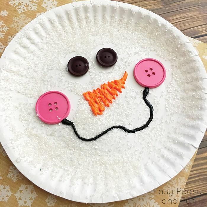 Snowman Paper Plate Craft