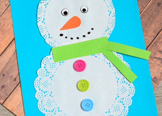 Doily Snowman Craft
