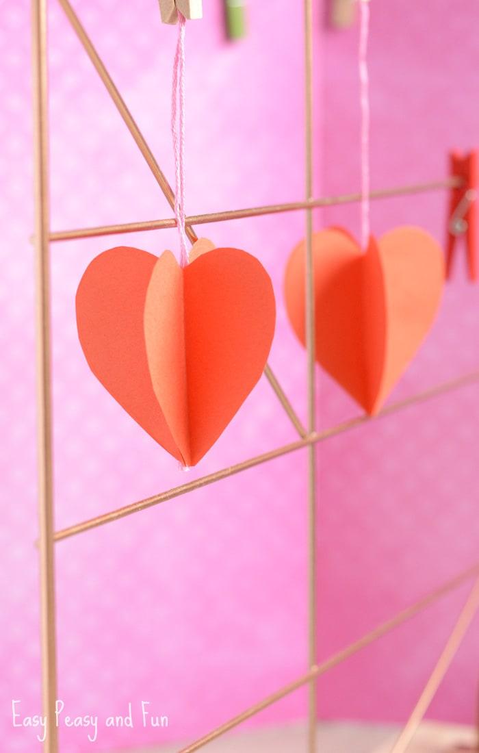 3D Paper Heart Craft