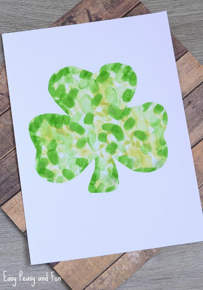 Fingerprint Shamrock Craft for Kids