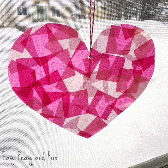 Stain Glass Heart Suncatcher