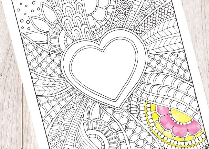 Doodle Heart Coloring Page