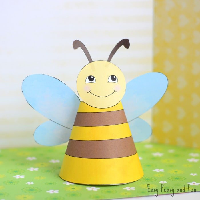 Bee Paper Toys