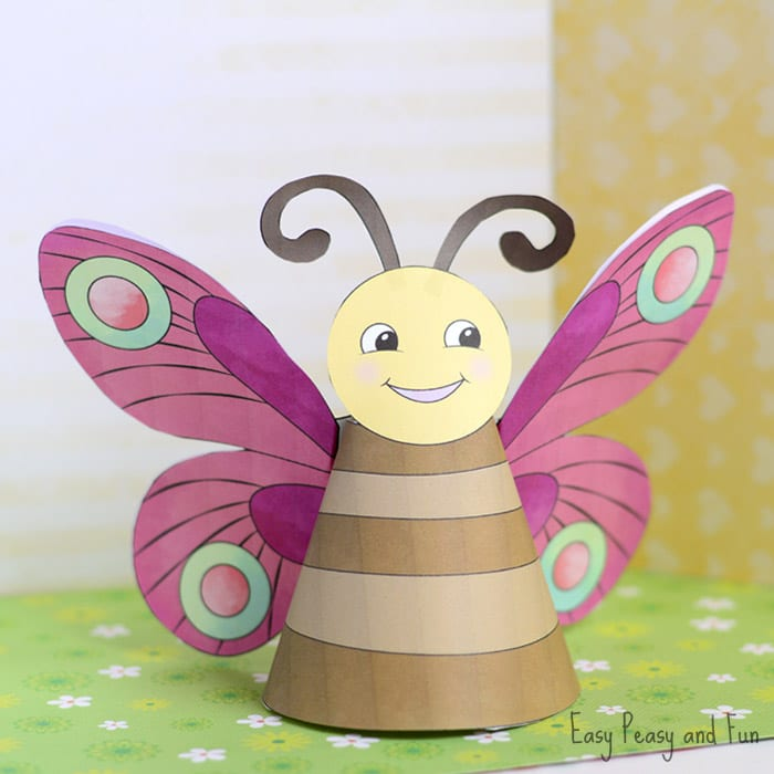 Butterfly Paper Toys