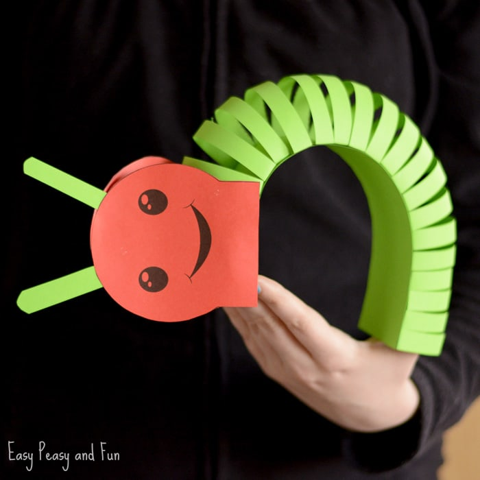 Cute 3D Paper Caterpillar Craft