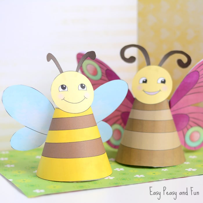 Cute Bug Paper Toys