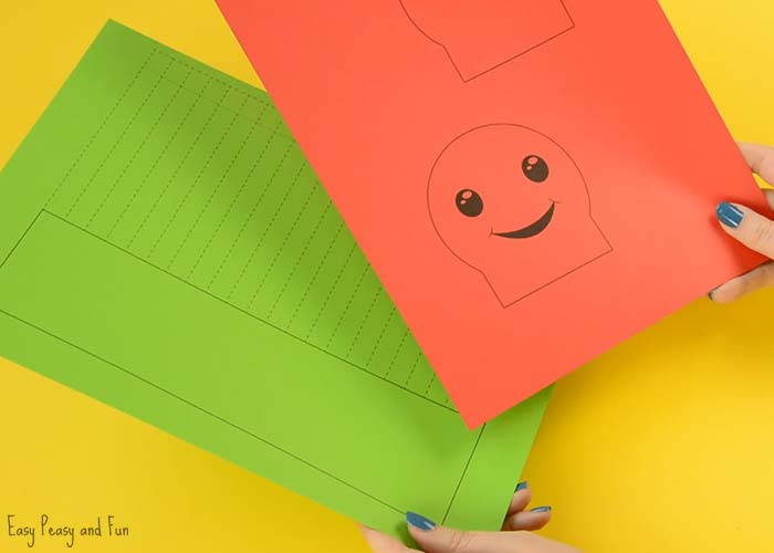 Paper Caterpillar Craft Template Easy Peasy Fun