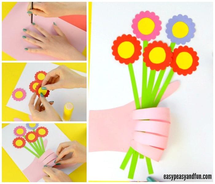 Cute Handprint Flower Craft