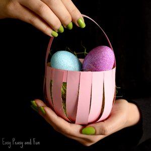 DIY Easter Paper Basket Craft