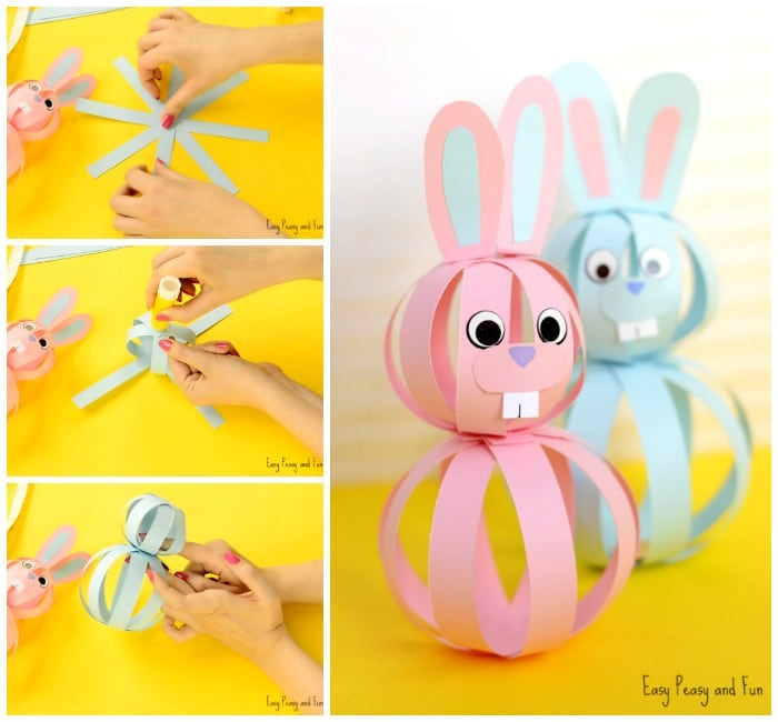 Easy paper bunny craft easter idea for kids easy peasy for Cute paper crafts