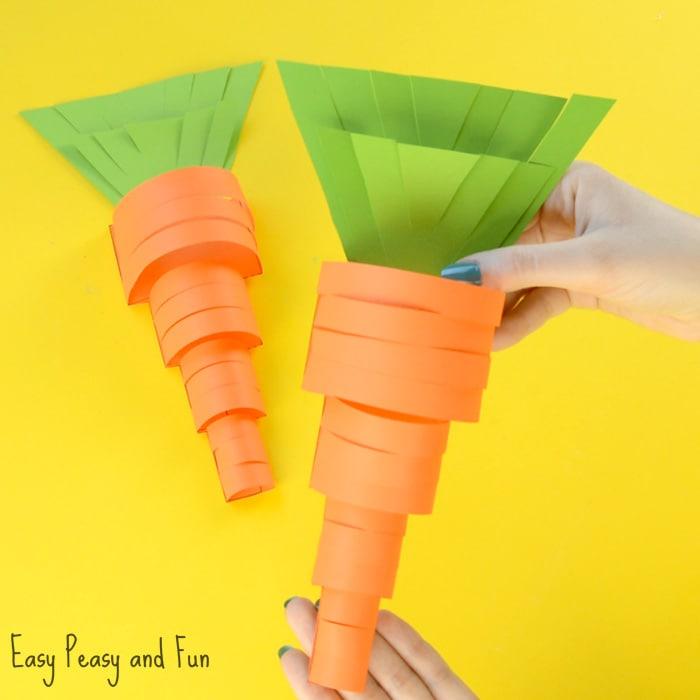 Cute Paper Carrot Craft