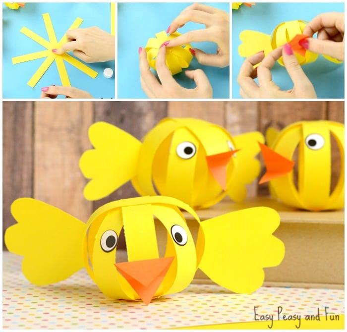 Cute Paper Chick Craft