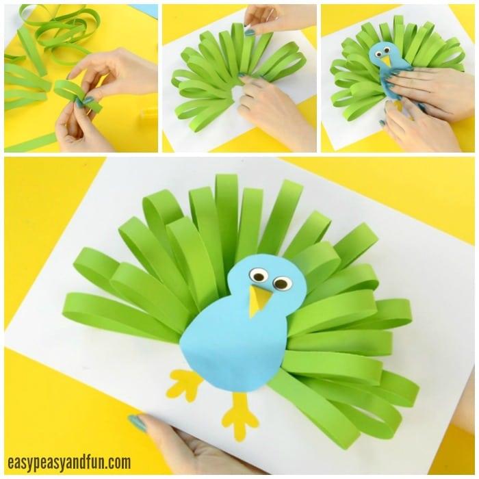 Cute Paper Peacock Craft