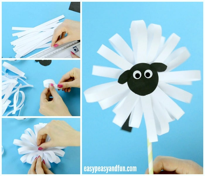 Cute Paper Sheep Craft for Kids