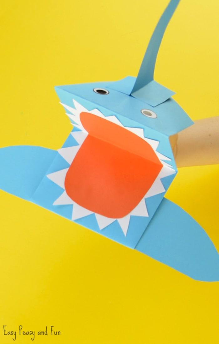 Cute Shark Paper Hand Puppet Craft