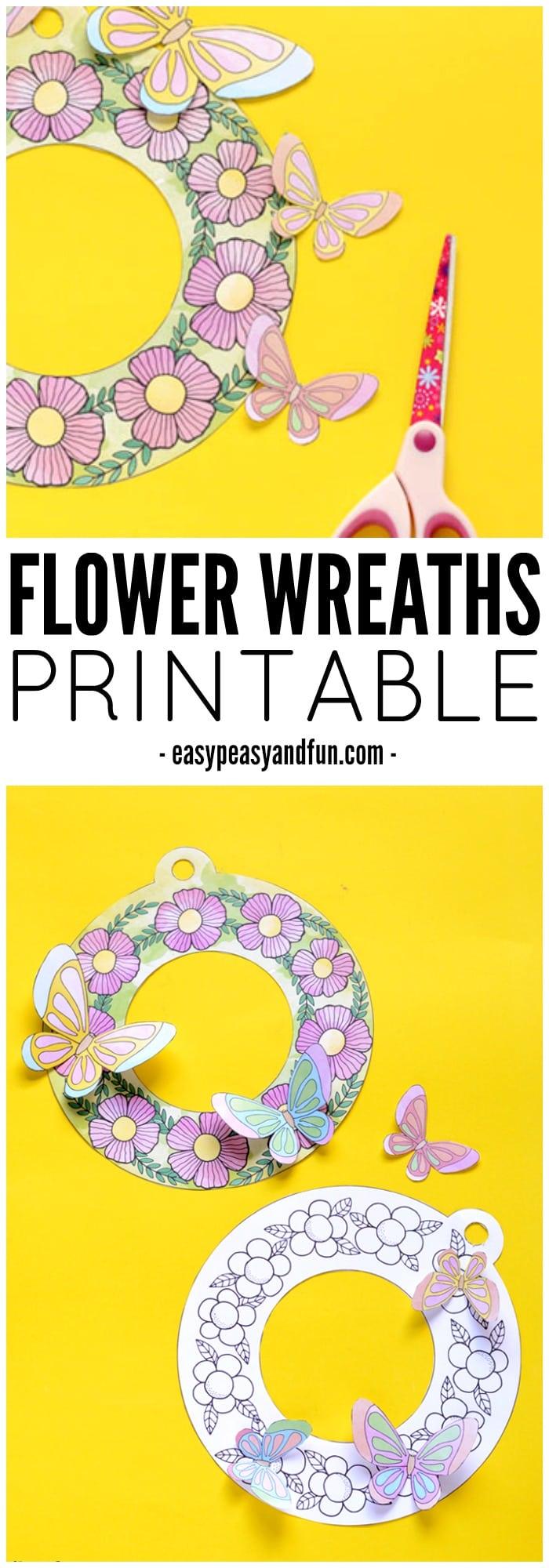 Gorgeous Printable Flower Wreaths
