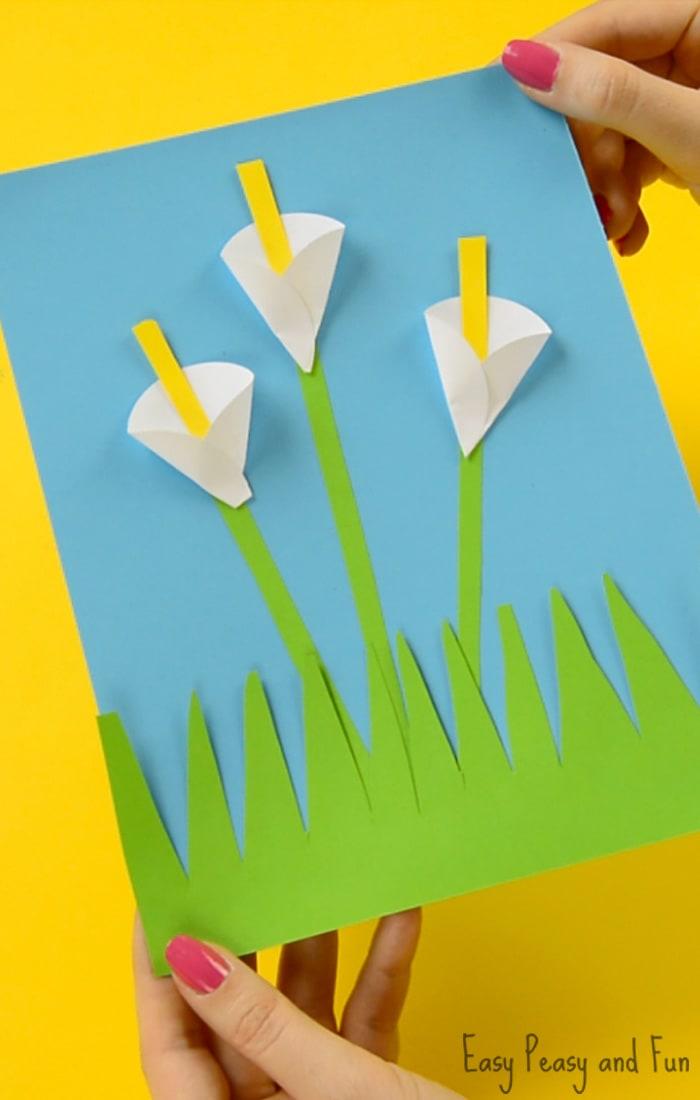 calla lily paper craft - flower craft ideas