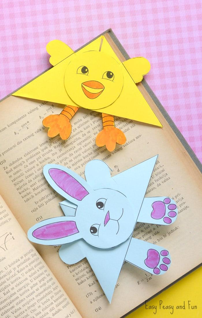 Easter Corner Bookmarks Craft for Kids