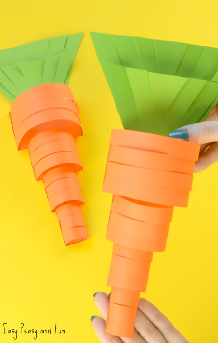 Paper Carrot Craft for Kids