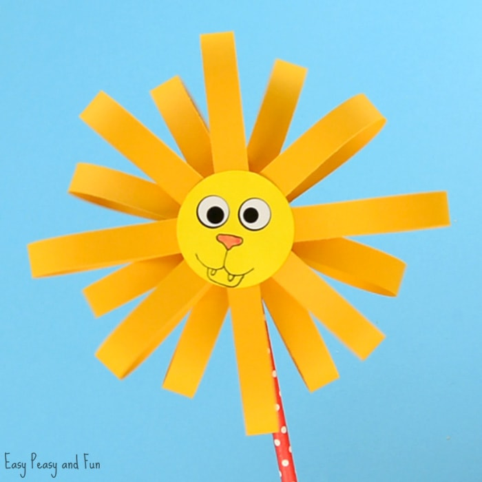 Paper Lion Craft for KIds to Make