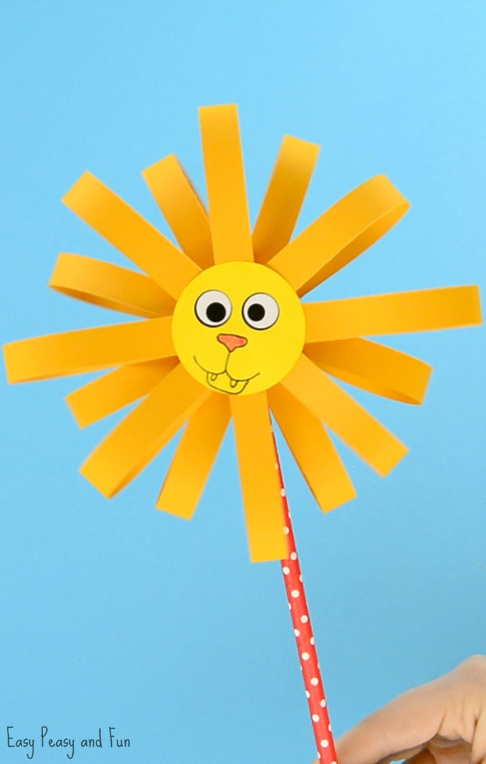Paper Lion Craft for Kids