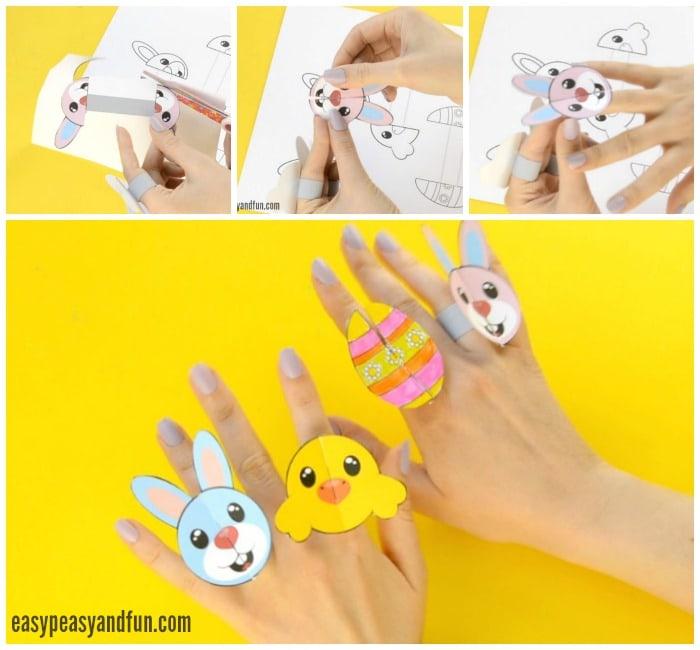 Printable Easter Paper Rings Craft
