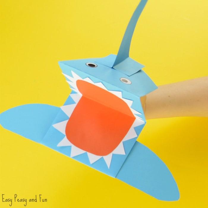 Shark Paper Hand Puppet Craft