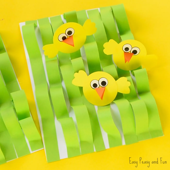 Spring Chick Paper Craft for Kids