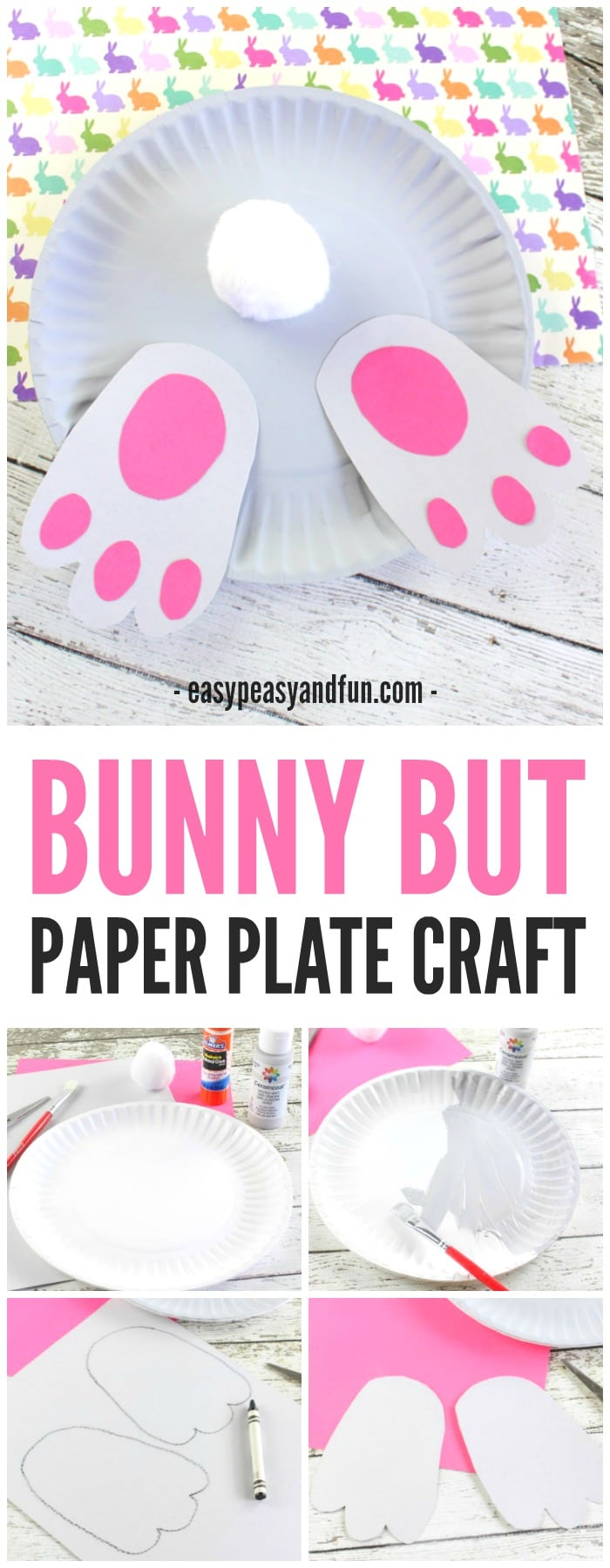 Bunny Butt Paper Plate Craft Easy Peasy And Fun