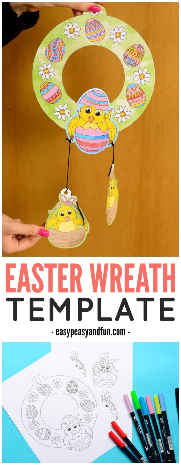 Adorable Printable Easter Wreaths