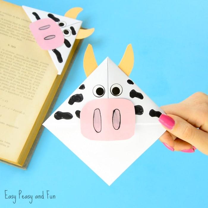 Cow Corner Bookmarks Craft