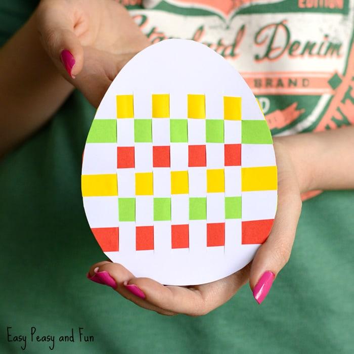 Cute Easter Egg Paper Weaving