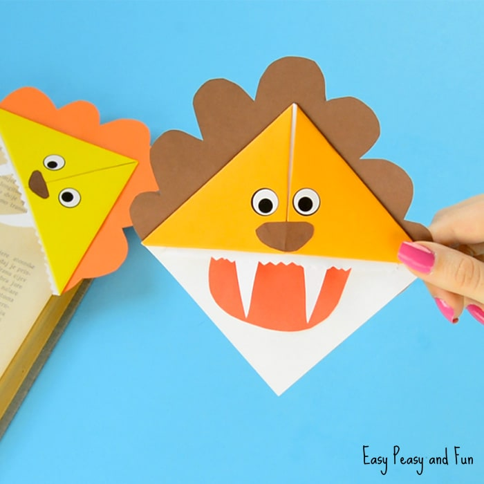 Cute Lion Corner Bookmarks