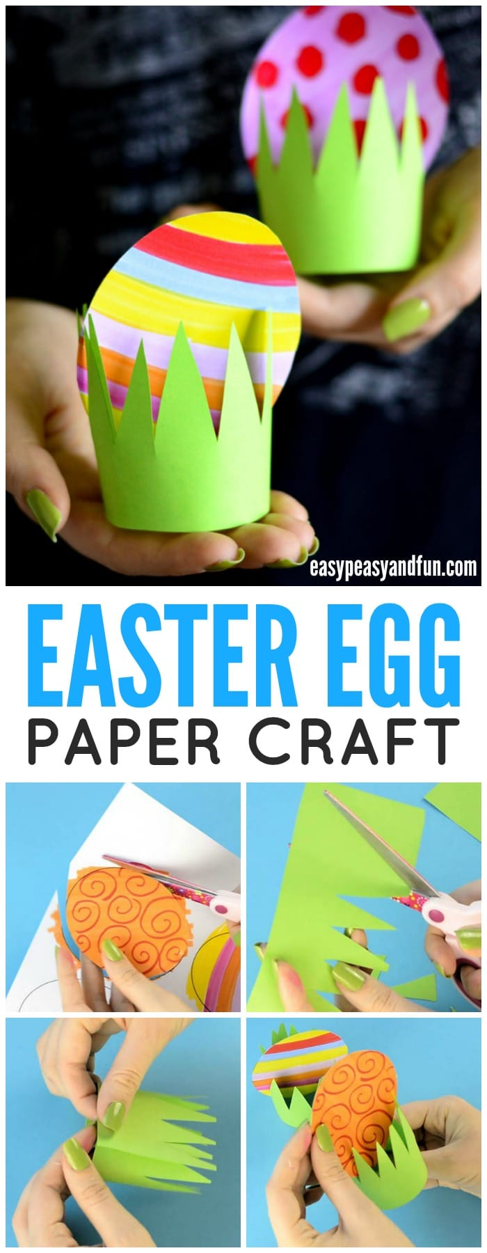 Paper easter egg craft idea easy peasy and fun for Crafts for kids to make