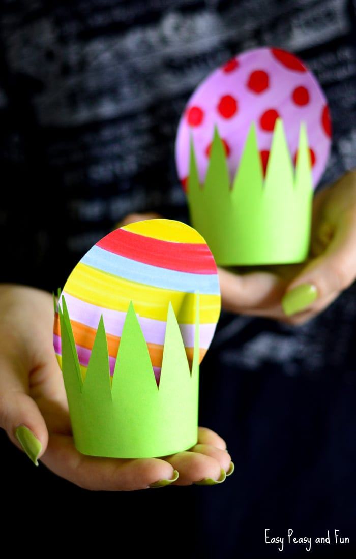 Paper easter egg craft idea easy peasy and fun