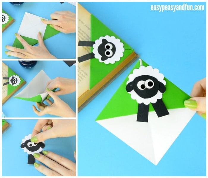 Cute Sheep Corner Bookmark