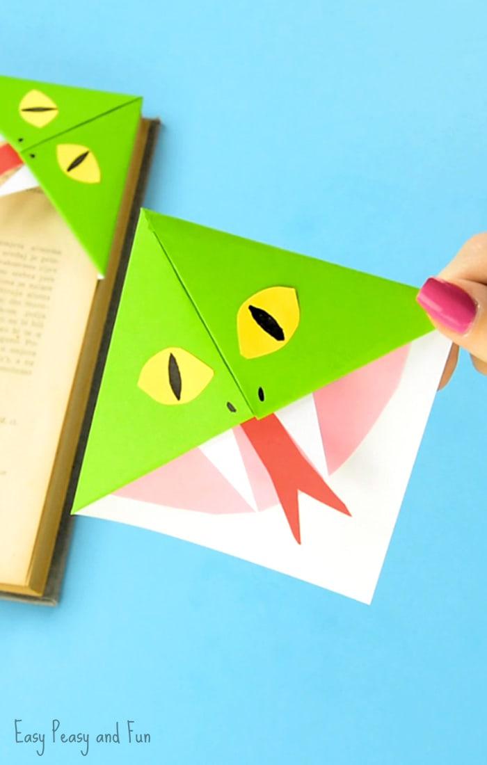 Cute Snake Corner Bookmarks Craft