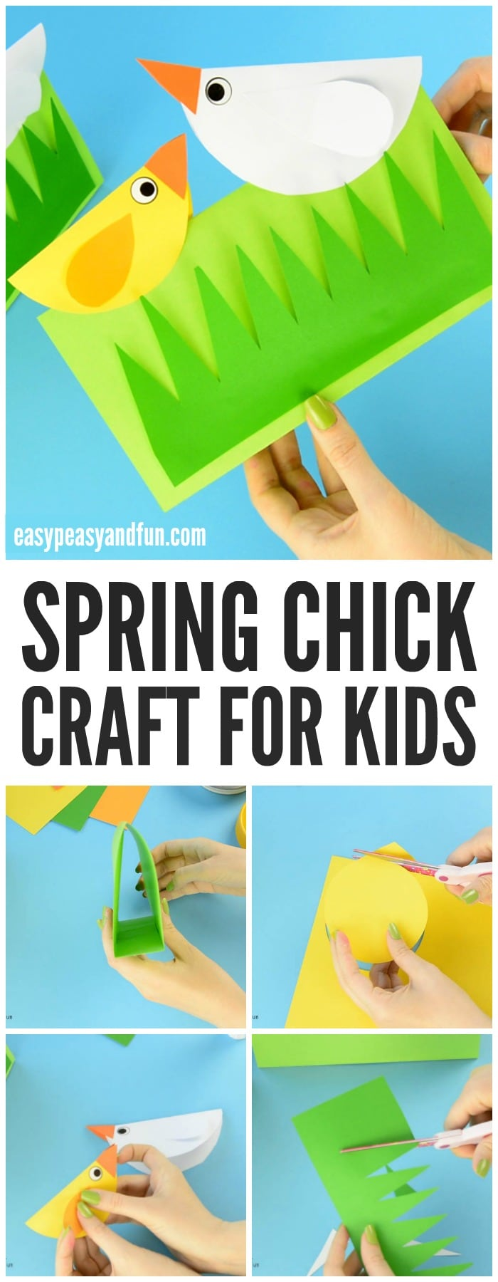 Cute Spring Chick Craft for Kids to Make