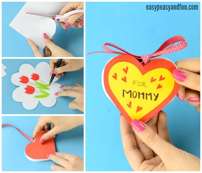 Diy heart notebook mother 39 s day card or kid made gift for What to get mom for mother s day diy