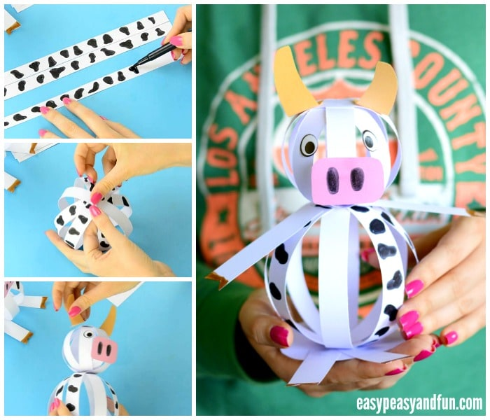 Easy Paper Cow Craft for Kids to Make