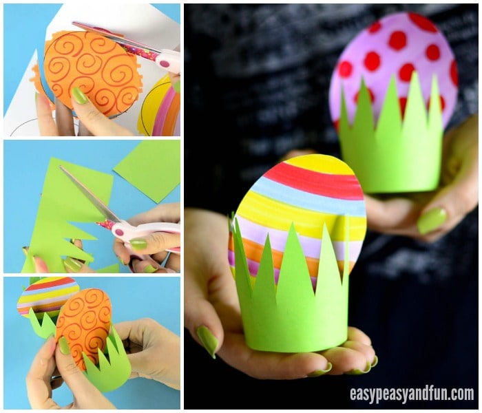 Paper Easter Egg Craft for Kids to Make