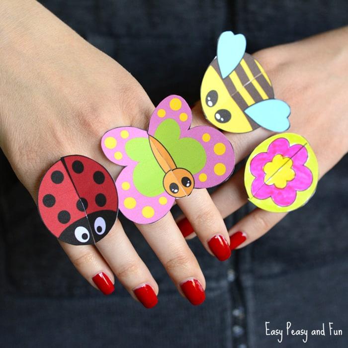 Printable Bug Paper Rings