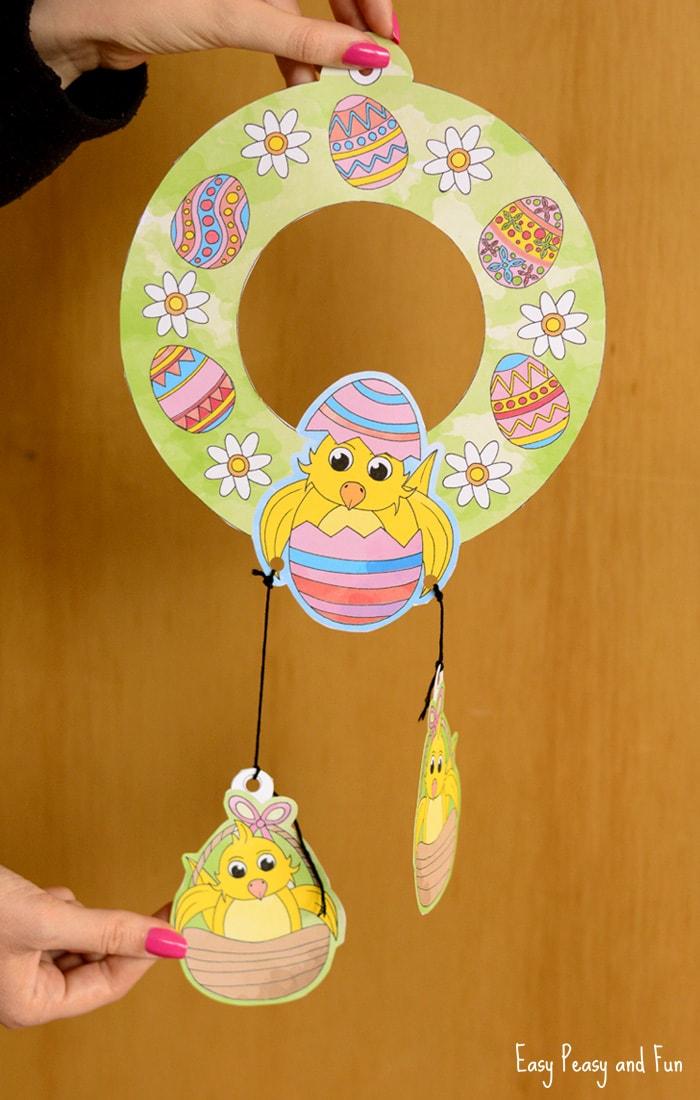 Printable Easter Wreaths Craft