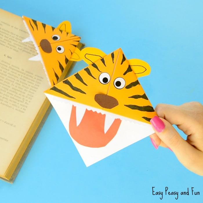 Tiger Corner Bookmarks Craft