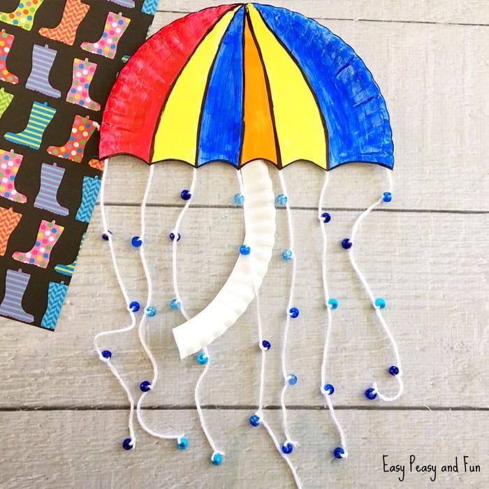 Umbrella Paper Plate Craft for Kids