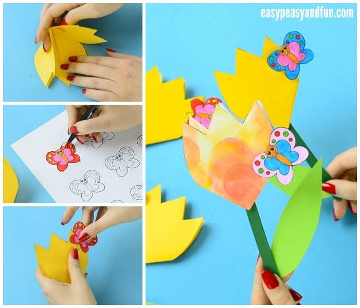 Cute Paper Tulip Flower Craft