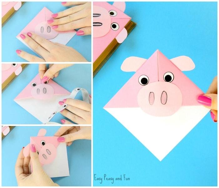 Cute Pig Corner Bookmarks